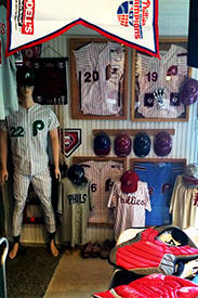 Baseball Memorabilia Display